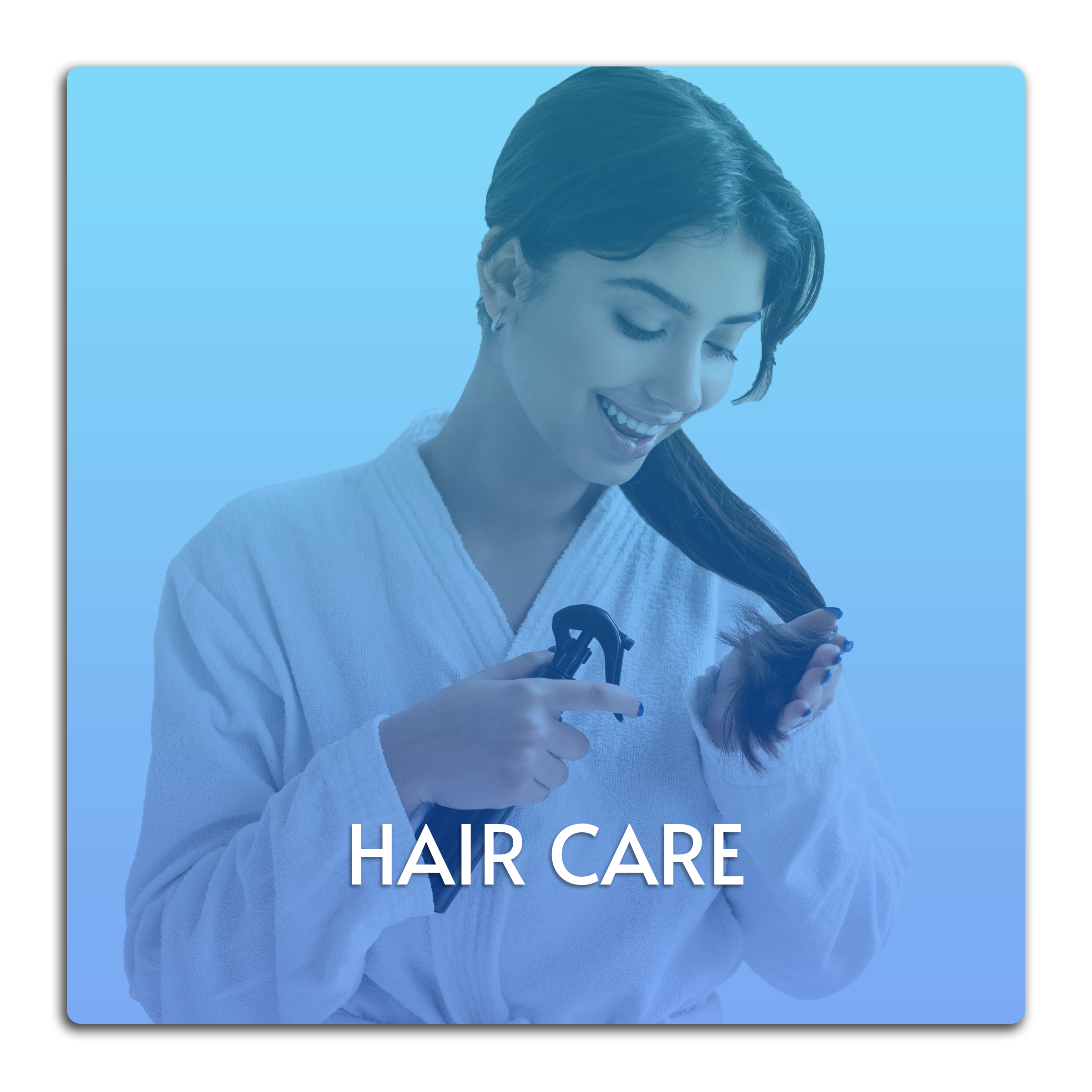 This image is a button linked to the Hair Care page